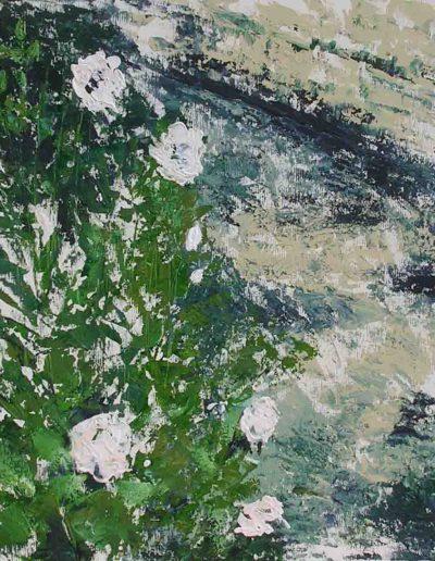 Rosenweg, Acryl auf Leinwand 80x80