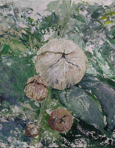 Dahlie, Acryl auf Leinwand, 80x80