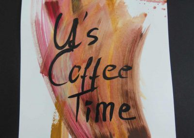 It's Coffee Time Aquarell, Tusche auf Papier, 30x40