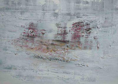Pompeji III, Ausschnitt, Acryl auf Leinwand, 80x80
