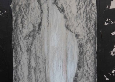 Skizze auf Karton, 50x70, Tusche, Kreide