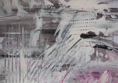 Skizze auf Papier, 40x30, Acryl