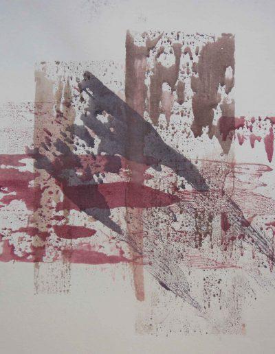 Skizze auf grauem Papaier, 48x62, Aquarell