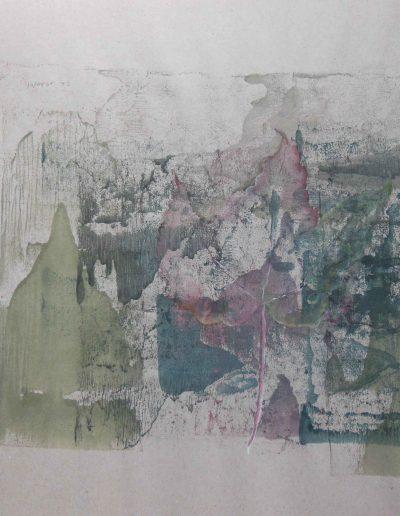 Skizze auf grauem Papier, 48x62, Aquarell
