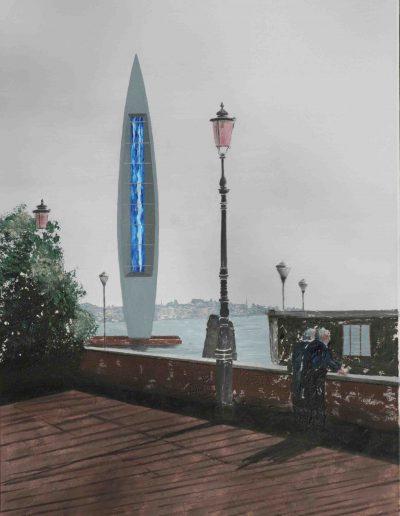 Venedig, Biennale 2005, Acryl auf Leinwand, 60x80