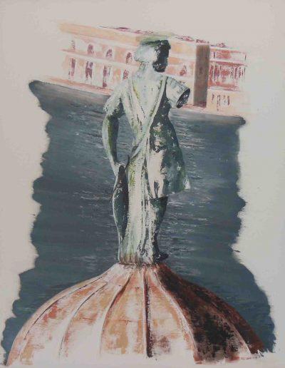Venedig San Giorgio, Acryl auf Leinwand, 80x100