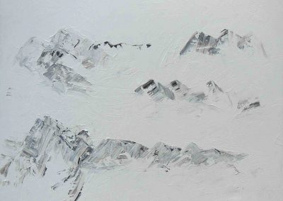 o.T., Acryl auf Leinwand, 100x80x4
