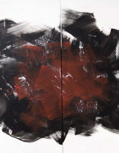 o.T. Diptychon, Acryl auf Leinwand 160x120